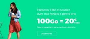 offre mobile sans engagement 100 Go