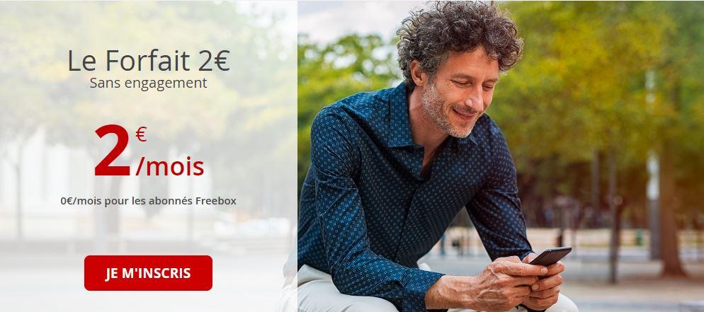 forfait free 2 euros